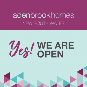 Adenbrook Homes NSW Display Homes and Showrooms are back open